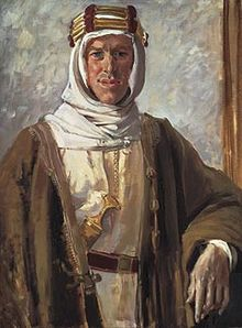 Lawrence of Arabia by Augustus John, 1919, Tate Gallery, London, painting with Lawrence in Arab robes