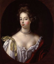 Portrait of Nell Gwyn by Simon Verelst, circa 1680, showing a stylish, pretty, young woman with decolletage